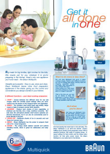 Braun - Multiquick Family advertorial