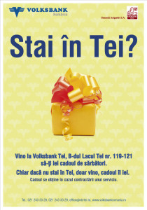 Volksbank - branch poster