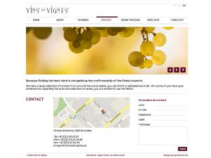 Vins en Vignes - contact page